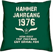 Hammer Jahrgang 1976 Sprüche Kissen 40x40 für