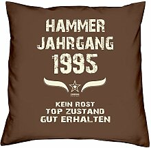 Hammer Jahrgang 1995 Sprüche Kissen 40x40 für