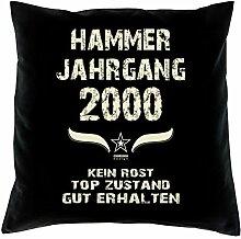 Hammer Jahrgang 2000 Sprüche Kissen 40x40 für