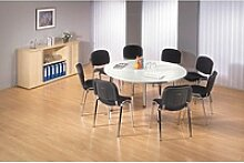 HAMMERBACHER   Konferenztisch weiß rund