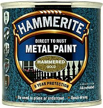 Hammerite Metallfarbe 250ml Hammered Gold-