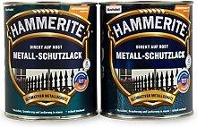 Hammerite Metallschutzlack 1l / 4x 250ml / Viele Farbtöne zur Auswahl (dunkelgrün - matt)