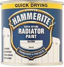 Hammerite Quick Dry Radiator Enamel 500ml Glanz Weiß