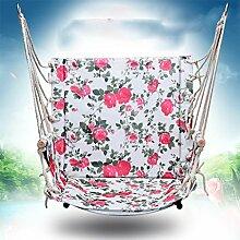 HammockHW Hyzb Swing Hängematte, Indoor verdickt Oxford Tuch Schlafzimmer Sitze Student Hängematte Starke Tragfähigkeit (Farbe : Pink)