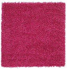Hampen Teppich Hochflor Bright Pink