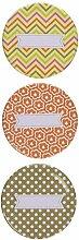 Hampton Art Metall Deckel (3Pack), 10,2x