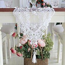 Han Shilei Stickerei/Romantischer Tisch-Tischl?ufer/Schneiden von Gaze-Stickerei-Tisch-Tischl?ufer/ischdecke / Tischdecken / Tischabdeckung-wei? 30x250cm(12x98inch)