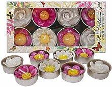 Hana Blossom Duft-Teelicht Blumen, Handarbeit,