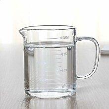 Hanbaili Glas - Cup Kreativ Messbecher with 350 Ml
