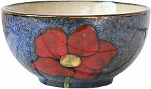 Hand bemalte Keramik-Schüsseln Haushalt Geschirr
