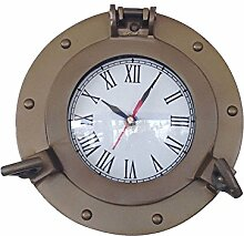 Hand crafted Messing antik Dekoschiff Bullauge Uhr