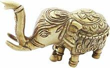 Hand geschnitzte goldene Figurine Gravierte