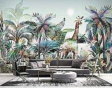 Hand gezeichnete tropische Pflanze Wald Aquarell