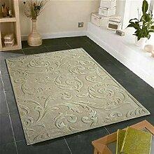Hand-Schnittblumen geprägte Teppich/ Couchtisch Wohnzimmer Schlafzimmer einfach Teppich/ Sofa Decke/ europäisch anmutenden Wolle und Seide Teppiche-D 160x230cm(63x91inch)