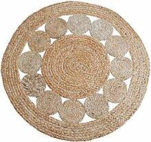 Hand-Woven Rundes Teppich & Teppich Einfache