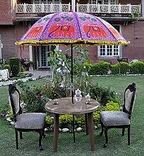 Handarbeit Baumwolle Gartenschirm Parasol Große