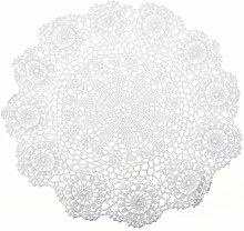 Handarbeit Geklöppelt Spitzendeckchen Baumwolle