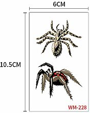 Handaxian 10pcs-Spinne Tattoo Aufkleber Totem