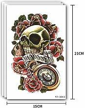 Handaxian 2pcs-Color Flower Arm Tattoo Aufkleber