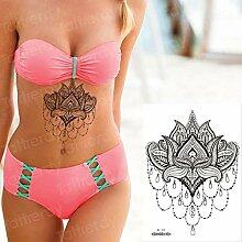 Handaxian 3pcsBody Kunst Tattoo ungiftig Lotus