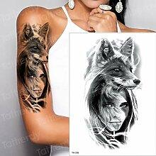 Handaxian 3pcsWaterproof Tattoo Aufkleber Wolf