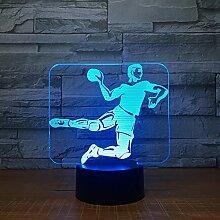 Handball 3D Led Lampe 7 Farbe Nachtlampen Für