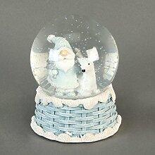 Handbemalte Figur Weihnachtsmann und Rentier