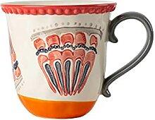 Handbemalte Keramik Kaffeetasse Pearl Point