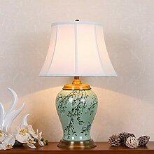 Handbemalte Keramik Tischlampe, Orientalische