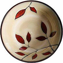 Handbemalte Teller 20x6cm Keramiknapf Ramen