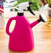 Handdruck Dual-Use Großflächige Gießkanne Hause Gießkanne Gartenarbeit Bewässerung Spray Flasche,Red