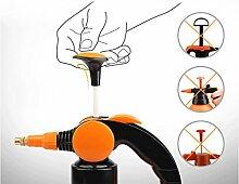 Handdruck Spray Topf, Sprühgerät Garten kleine Spray Topf Handwassertopf Gartenarbeit Werkzeuge orange 1,5L Kombination ( Farbe : B )