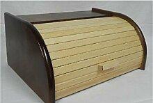 handelgross Holz Brotkasten Brot Rollkasten