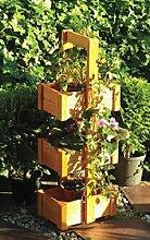 handelgross Pflanzturm Hochbeet Blumentreppe Holz
