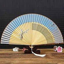 Handfächer,Sommer Chinesischen Stil Frauen Bambus