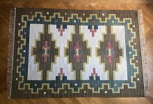 Handgearbeiteter Flachgewebe Rölakan Teppich,
