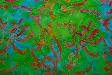 Handgefärbte Batik aus Indonesien / 'Flower