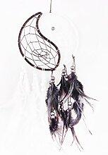 Handgefertigt Dreamcatcher Zirkular Federn Yin
