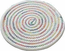 Handgefertigte bunte Baumwollfaden Tischsets Durable Isolierkissen, 30CM
