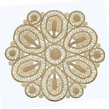 Handgefertigte geflochtene runde Naturfaser Jute Teppich, natur (120 cm Durchmesser, Grande natürlich)