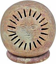 Handgefertigte Indische Dekoration Teelicht Kerze Halter Lampen Steingut 3 Zoll Sonne Religiöse Geschenke