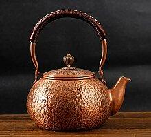 Handgefertigte, massive Kupfer-Teekanne,