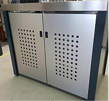 Handgefertigte Mülltonnenbox für 2 x 240 l 2 x