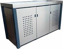 Handgefertigte Mülltonnenbox für 3 x 240 l 3 x