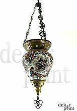Handgefertigte Orientalisch Türkisch Mosaik Glas Hänge Lampe Innenleuchte Pendelleuchte Deckenleuchte Aussenleuchte Handarbeit Hängeleuchte Hängelaterne (Bunt)