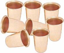 Handgefertigte Reines Kupfer Glas Becher für