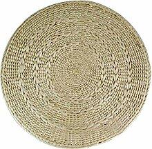 Handgefertigte runde Rattan Tischsets Stroh Isolierkissen, natürliche Farbe, 30CM