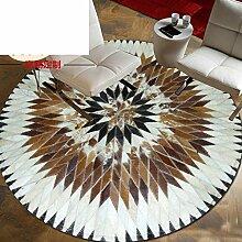 handgefertigte teppich runde,living room,halle, den carpet teppich-A 110x110cm(43x43inch)