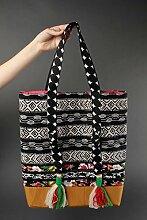 Handgefertigte Umhangetasche Damen Designer Tasche Frauen Geschenk aus Baumwolle