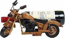 Handgefertigte Weinregale aus Holz Motorrad